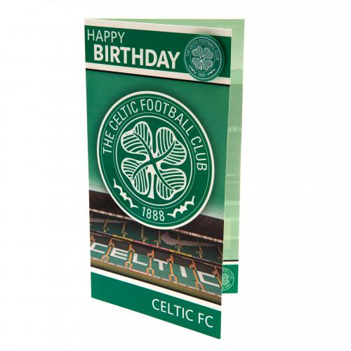 Cards gift wrap world of soccer celtic fc birthday card badge bookmarktalkfo Image collections